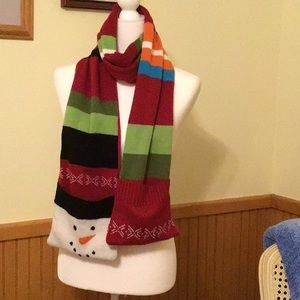 Accessories - Cute pocketed snowman scarf